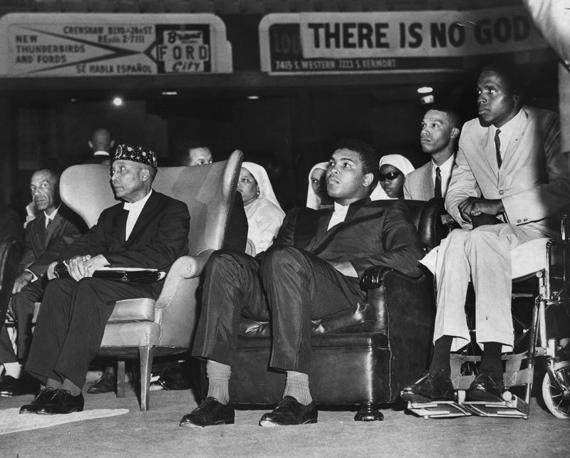 The Most Honorable Elijah Muhammad, Muhammad Ali and The Honorable Minister Louis Farrakhan